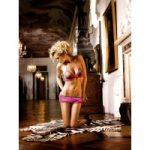 Baci Pink-Leopard Ruffled Booty Shorts-Set