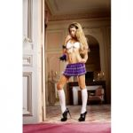 Baci White-Purple Schoolgirl Set