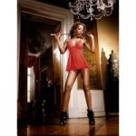 Baci Red Lace Babydoll Set