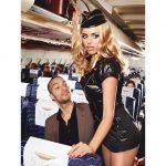 Baci Lingerie Super sexet stewardesse kostume str. S/M