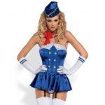 Obsessive Stewardesse  kostume – S/M